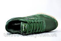 Кроссовки мужские в стиле Reebok Classic Leather Nylon Mesh, Green, фото 2
