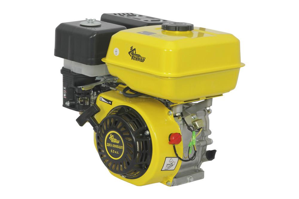 Двигатель Кентавр ДВЗ-200БШЛ (шлицы, 6,5 л.с., бензин, фильтр с масляной ванной)