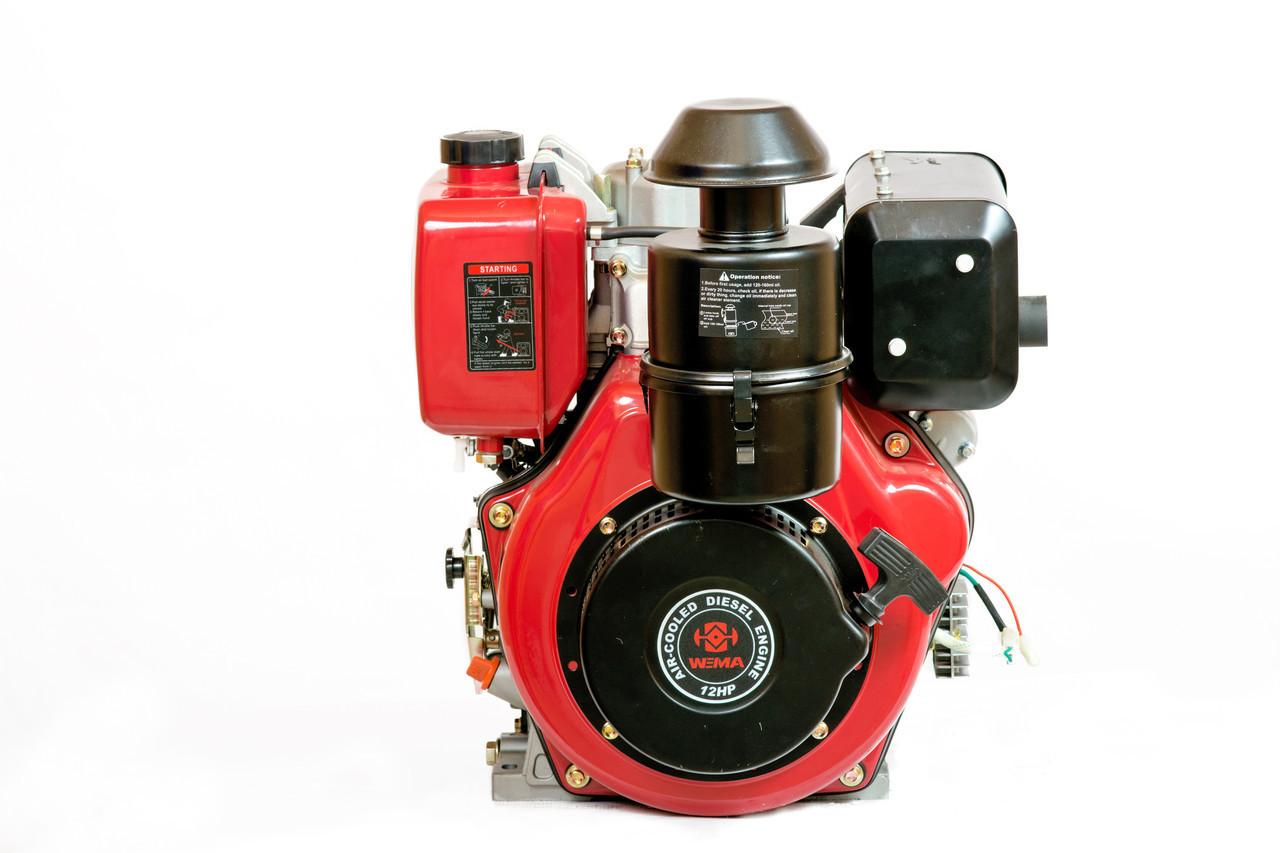 Двигатель дизельный Weima WM188FBSE редуктор (12,0 л.с.,вал под шпонку)
