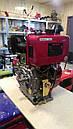 Двигатель дизельный Weima WM188FBS редуктор (12,0 л.с.,вал под шпонку), фото 4