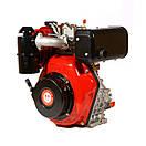 Двигатель дизельный WEIMA WM186FBS редуктор (9,5 л.с..вал под шпонку), фото 4