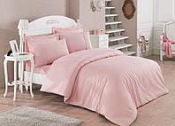 Набор постельного белья с кружевом  200х220 Cotton Box MARLA PUDRA