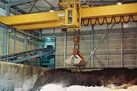 Кран мостовой двухбалочный специальный грейферный г/п 32 т.