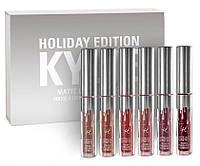 Набор помад Kylie Holiday Edition Lip Kit mini (6 штук в наборе)