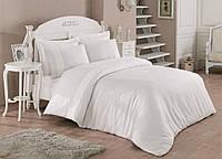 Набор постельного белья с кружевом  200х220 Cotton Box VERONICA BEYAZ