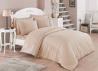 Набор постельного белья с кружевом  200х220 Cotton Box ALIZE BEJ