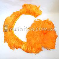 Гирлянда из перьев 1,8 м, оранжево-желтый