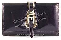 Небольшой элитный прочный кожаный качественный женский кошелек art. S-05B 10 фиолетовый перламутр