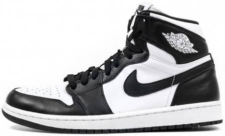 32efac1f Мужские баскетбольные кроссовки Air Jordan 1 Retro High OG Black White,  фото 2