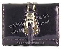 Компактный элитный прочный кожаный качественный женский кошелек art. S-05A 10 фиолетовый перламутр
