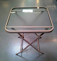 Столик кофейный, раскладной, стеклянный - 60 х 60 х 71 см.