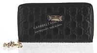 Стильный элитный женский кожаный кошелек барсетка высокого качества art. G-2001 A черный, фото 1