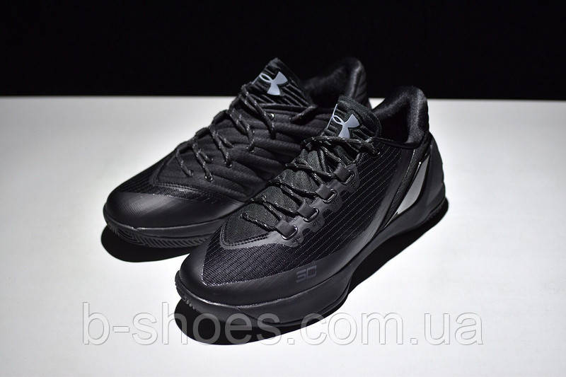 Мужские кроссовки UNDER ARMOUR CURRY 3 Low (All Black)