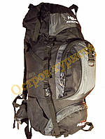 Рюкзак туристический каркасный POLAR Adventure 65 литров 2346 серый