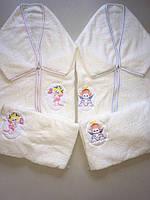 Конверт плед махровый с наволочкой для новорожденных