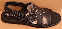 Мужские шлепки кожаные на липучке, летняя мужская обувь от производителя модель АМБ01