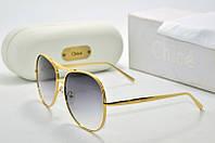 Солнцезащитные очки Chloe круглые в желтой оправе