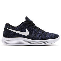 Кроссовки Nike Lunarepic Low Flyknit Black Dark Purple, фото 1