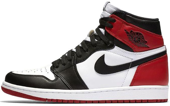Мужские кроссовки Nike Air Jordan 1 High Black OG Toe 555088-184, Найк Аир Джордан 1