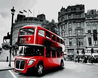 Рисование по цифрам. Лондонский автобус