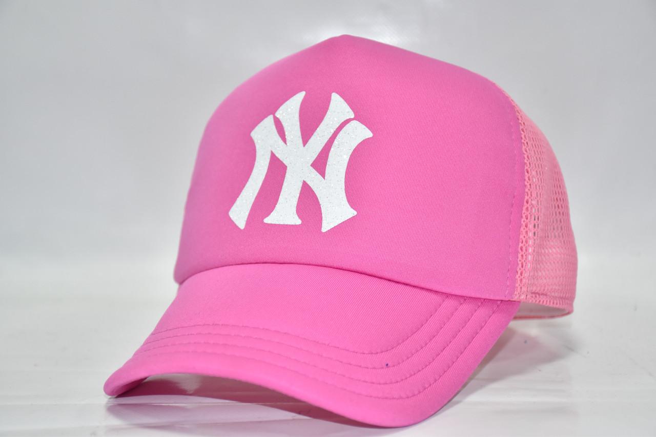 Летняя кепка розовая NY