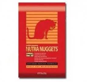 Nutra NUGGETS Hairball Control для кошек всех пород и возрастов (красная), 10кг