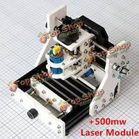 Гравировальный станок мини USB с лазерным модулем 500мВ режет металл фанеру