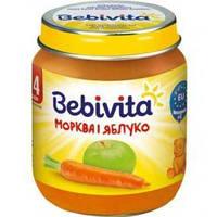 Фруктово-овочеве пюре Bebivita Яблуко і морква з 4 місяців 125 г