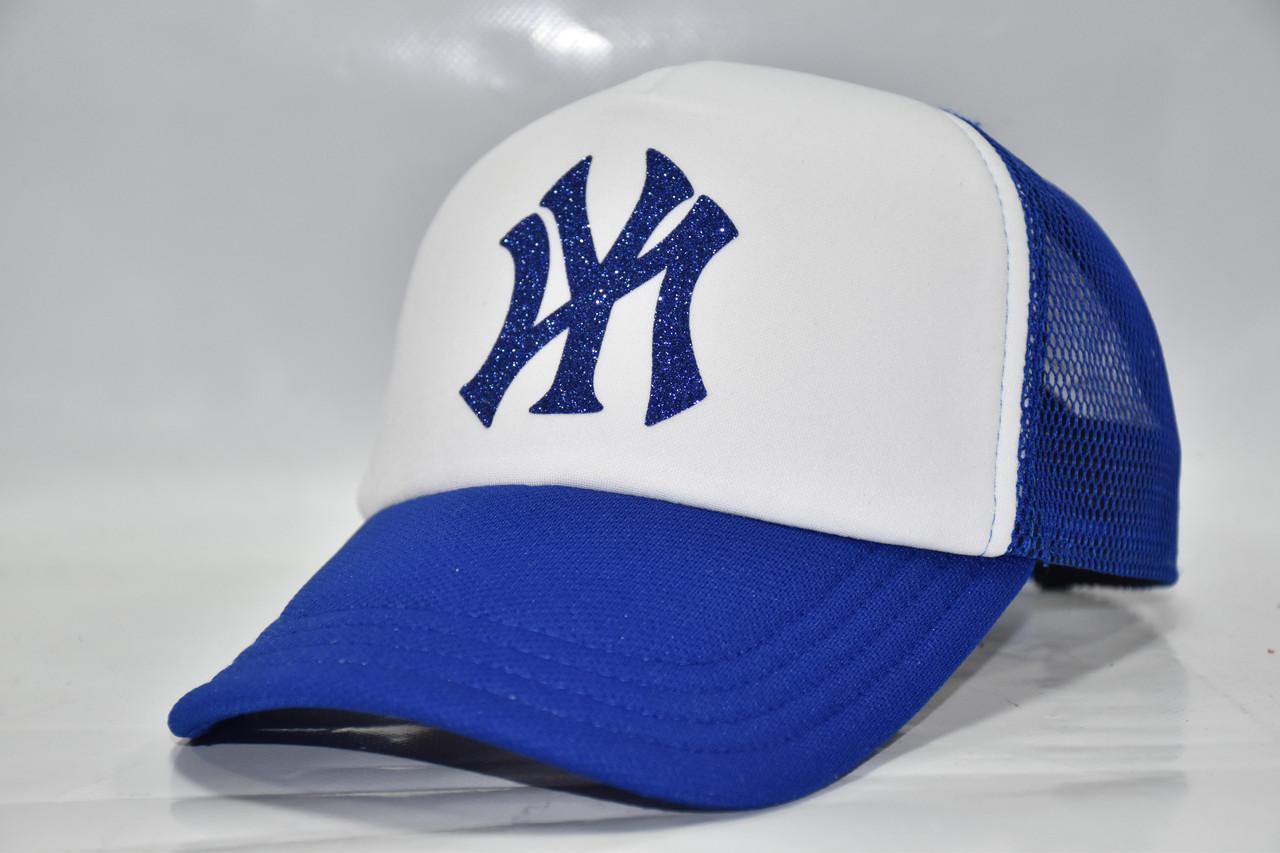 Кепка синяя с белым NY