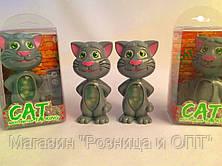 Интерактивная игрушка Говорящий Кот с подсветкой и функцией звукозаписи Cat Talking Multi-function, фото 3