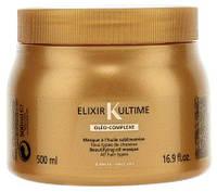 Эликсир Ультим, питательная маска с маслами для всех типов волос, 500 мл