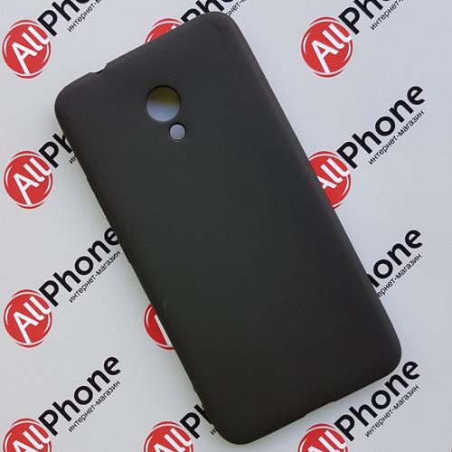 Чехол-бампер силиконовый черный для Meizu M5 Note