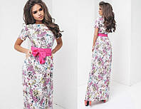 Женское красивое длинное платье (расцветки) СОР3010