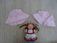 """Летняя панамка """"Цветочек"""" для девочки розовая р.46-52"""