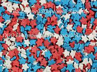Посыпки кондитерские — Звезды красные-белые-синие