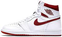 Мужские баскетбольные кроссовки Air Jordan 1 OG Metallic Red