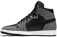 Мужские баскетбольные кроссовки Air Jordan 1 Black Elephant Print