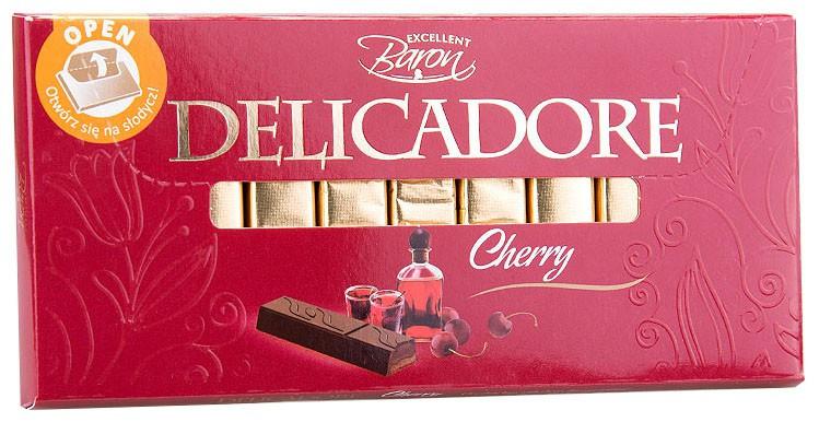 Шоколад темный молочный Baron Delicadore Вишня, 200г