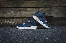 Мужские кроссовки Nike Air Jordan 4 Retro Premium 'Pinnacle' Obsidian 819139-402, Найк Аир Джордан 4, фото 2