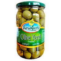 Оливки зеленые Varia Gusto Olive Verdi без косточки в рассоле, 545 гр.