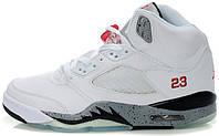 Мужские баскетбольные кроссовки Air Jordan 5 White Cement