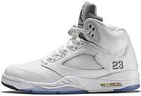 Мужские баскетбольные кроссовки Air Jordan 5 Retro Metallic Silver