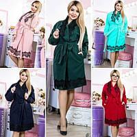 Стильное женское пальто с кружевом норма / Украина / кашемир