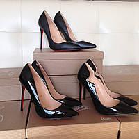 Кожаные туфли Черные туфли-лодочки Christian Louboutin