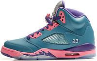 Женские кроссовки Nike Air Jordan 5 GS Retro Tropical 440892-307 , Найк Аир Джордан 5