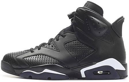 Мужские кроссовки Nike Air Jordan 6 Black Cat 384664-020, Найк Аир Джордан 6, фото 2
