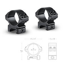 Кольца Hawke Matchmount 30mm/Weaver/Low
