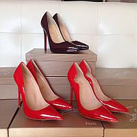 Красные туфли-лодочки Christian Louboutin Кожаные туфли