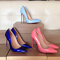 Кожаные туфли-лодочки Christian Louboutin Розовые Голубые Синие