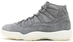 Мужские баскетбольные кроссовки Air Jordan 11 PRM Grey Suede
